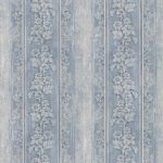 Stripes Blue Flowers FT23568 Wallpaper
