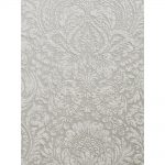 Ornated Embossed Floral Prints Grey 266866 Wallpaper