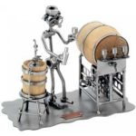 Wine Taster Nuts Bolts Business Card Holder