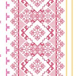 Homely Geometric Floral Red White 46922 Wallpaper