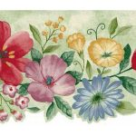 Red Blue Yellow Flowers 5504311 Wallpaper Border