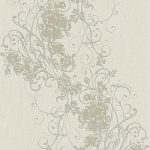 Ornated Floral Scroll Grey 5794-37 Wallpaper