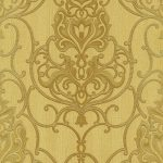 Ornated Floral Damask Yellow Gold 5795-30 Wallpaper