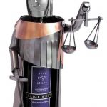 Lady Justice Wine Bottle Holder
