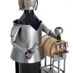Female Wine Taster Wine Bottle Holder