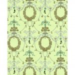 Ornamental Charms Swags Green Gold 7304-07 Wallpaper
