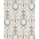 Ornamental Charms Swags Grey Pink 7304-10 Wallpaper