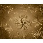 Gold Floral 8-703 Wall Mural