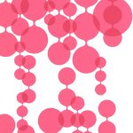 Linked Bubbles Pink 881021 Wallpaper