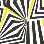 Graphical Curved Lines Black Yellow 881229 Wallpaper