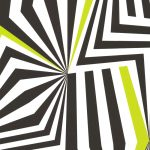 Graphical Curved Lines Black Green 881236 Wallpaper