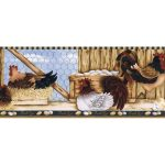 Roosters LBO222B Wallpaper Border