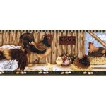 Roosters LBO223B Wallpaper Border