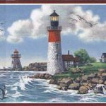 Nautical Lighthouse TA39006B Wallpaper Border