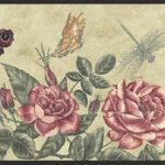 Rose Dragon-Fly KS74356 Wallpaper Border