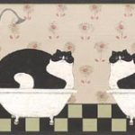 Fat Cats In Buth Room AP75656 Wallpaper Border