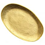 Glamour Gold Oval Platter 8.5 x 5.5 inches