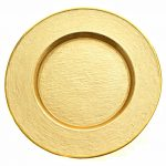 Glamour Gold Charger Gold Rim Finish
