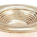 Round Gold Ribbon 14 inches Bowl