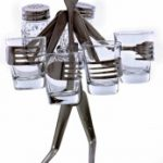 Tequila Party Glasses and Shakers Fork