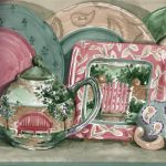 Coffee Cup Plate IG75155 Wallpaper Border