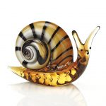 Murano Style Art Glass Snail L8x3x4.5 inches