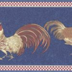Red Blue Roosters KCB82072 Wallpaper Border
