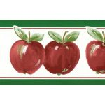 Green Red Running apple KT77928 Wallpaper Border
