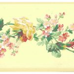 Yellow Rose Floral LY4309 Wallpaper Border