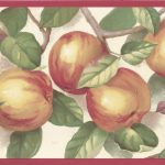 Red Cream Green Apple Branches MK77659 Wallpaper Border