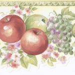 Green White Fruits Floral MK77674 Wallpaper Border
