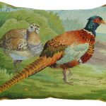Pheasants in the Field 16X20 Needlepoint Pillow