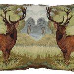 Deer 18×28 Needlepoint Decorative Pillow