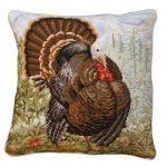 Tom Turkey 18×18 Needlepoint Pillow