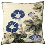 Morning Glory 18×18 Needlepoint Pillow