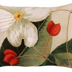 Dogwood 16 x 20 Needlepoint Pillow