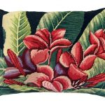 Plumeria 16 x 20 Needlepoint Pillow