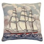 Square Rigger 18×18 Needlepoint Pillow