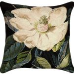 Magnolia 18 x 18 Needlepoint Pillow