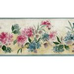 Pink Blue Tiny Flowers PP76560 Wallpaper Border