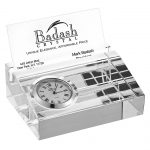 Clock and Business Card holder