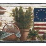 Blue Red and Green Lodge Flag TC48051 Wallpaper Border