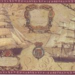 Red Cream Vintage Boats WD76837B Wallpaper Border