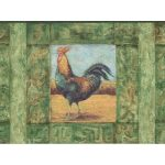 Roosters WD76842LL Wallpaper Border
