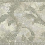Green Painted Leaves ZN76161B Wallpaper Border