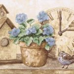 Birdhouses Clocks PT24008B Wallpaper Border