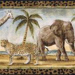 Safari Animals Jungle Animals PT24027B Wallpaper Border
