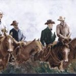 Cowboy Horses SD25017B Wallpaper Border