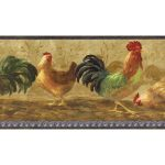 Roosters TH29001B Wallpaper Border