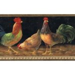 Roosters TH29002B Wallpaper Border